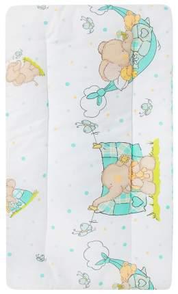 Комплект в коляску (матрасик+подушка) Leader Kids «Мой слоник» GL000608888, бязь, Ментол