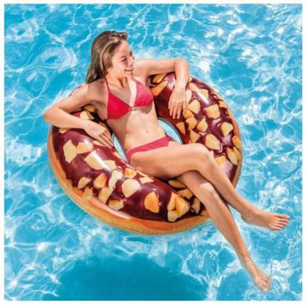 Круг надувной Intex Пончик шоколадный int56262NP 9+