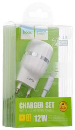 Сетевое зарядное устройство Hoco C41A 2 USB 2,4A White