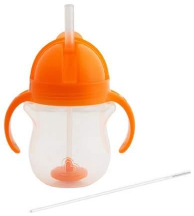 Поильник Munchkin click lock с трубочкой и с ручками 207 мл оранжевый