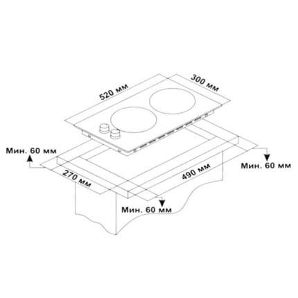 Встраиваемая газовая панель Hi VG 3720 H