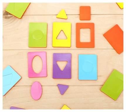 Обучающий набор «Карточки Сегена. Простые цвета», 18 карточек, материал EVA Забияка