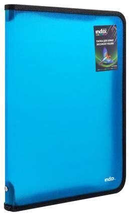 Папка на молнии с 3х сторон COLOURPLAY Light, ф. А4 (325х230мм), 0,5мм, прозрачная, синяя