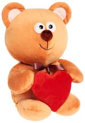 """Мягкая игрушка """"Мишутка с сердцем"""", бежевый, 30 см"""