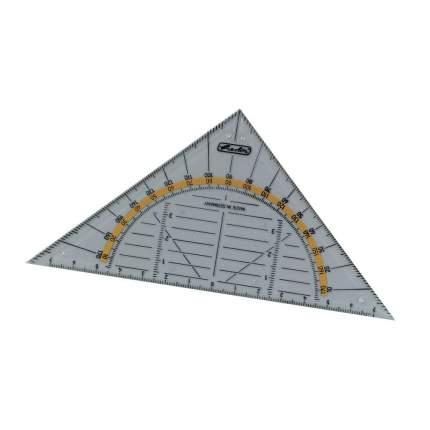 Треугольник с транспортиром Herlitz длина 14см