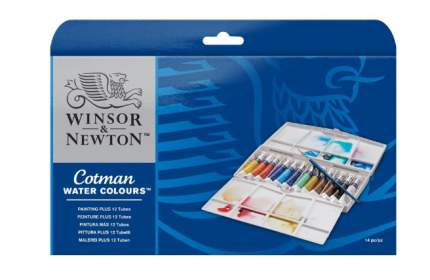 Акварель Winsor&Newton Cotman Mini Plus 12 цветов