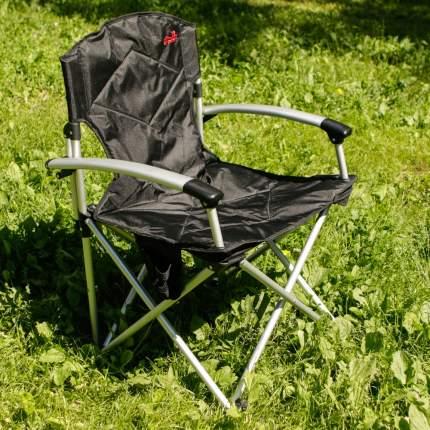 Кресло раскладное с подлокотниками Tramp TRF-004 черный-серый Цвет черный