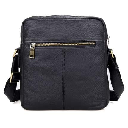 """Мужская сумка через плечо из натуральной кожи """"Кошелькофф"""" черная 1011BK"""