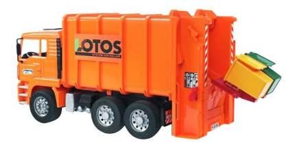 Мусоровоз MAN цвет оранжевый подходит модуль со звуком и светом H