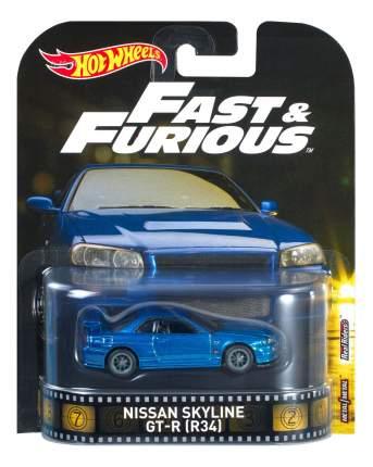 Машинка Hot Wheels Nissan Skyline GT-R (R34) - Fast & Furious DMC55 DWJ88