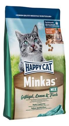 Сухой корм для кошек Happy Cat Minkas, домашняя птица, ягненок, рыба, 4кг