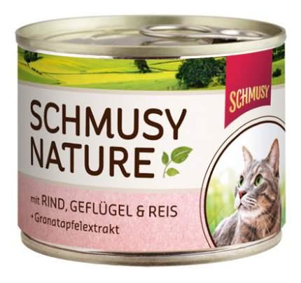 Консервы для кошек Schmusy Nature's Menu, с говядиной и птицей, 190г