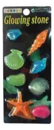 Грот для аквариума Светящиеся морские фигурки