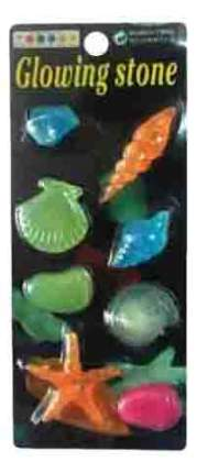 Декорация для аквариума МЕЙДЖИНГ АКВАРИУМ Светящиеся морские фигурки, 27х14х12 см