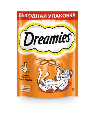 Лакомство Dreamies для взрослых кошек с курицей, 140г