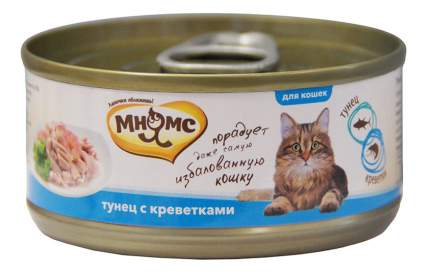Консервы для кошек Мнямс, тунец, креветки, 24шт по 70г