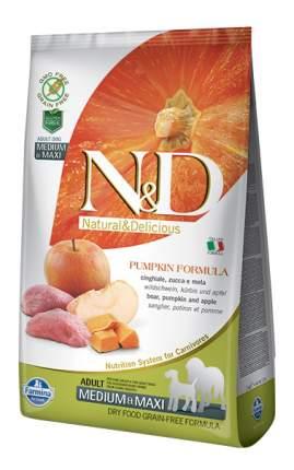 Сухой корм для собак Farmina N&D Medium & Maxi, кабан и яблоко, 12кг