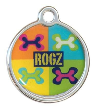 Адресник на ошейник для собак ROGZ Fancy Dress Многоцветный Поп-Арт L - 31 мм