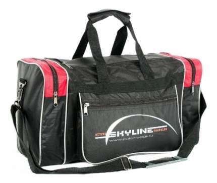 Дорожная сумка Polar Джонсон черная/красная 46 x 20 x 25