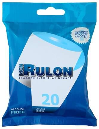 Туалетная бумага Mon Rulon Влажная 20 шт.