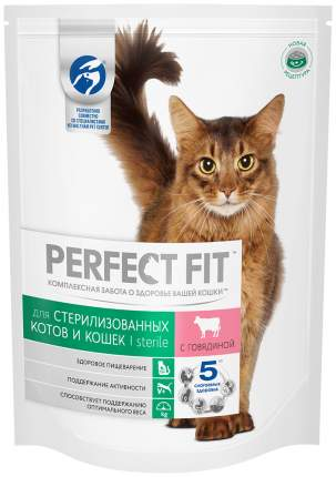 Сухой корм для кошек Perfect Fit Sterile, для стерилизованных, говядина, 10шт по 650г