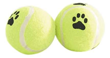 Апорт для собак Beeztees Мяч теннисный с лапкой, желтый, черный, белый, 6.5 см