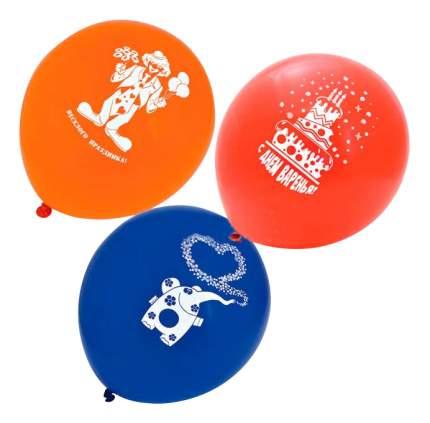Набор шаров ACTION! С Днем Рождения! 25 см 20 шт.