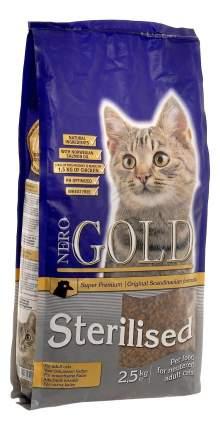 Сухой корм для кошек NERO GOLD Super Premium, курица, 2,5кг