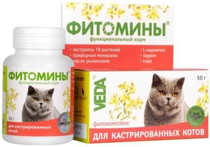 Витаминный комплекс для кошек VEDA Фитомины, для кастрированных 100 таб