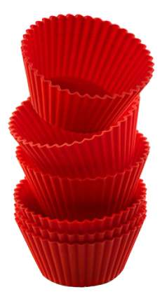 Форма для выпечки SILIKOMART 7 см 6 шт. красная
