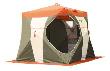 Палатка Митек Нельма Куб двухместная оранжевая/бежевая/зеленая