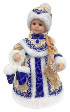 Кукла новогодняя Новогодняя сказка Снегурочка в золотом 30 см