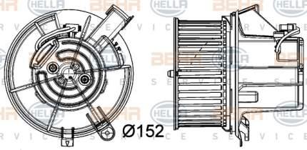 Двигатель моторчика печки Hella 8EW 351 040-301