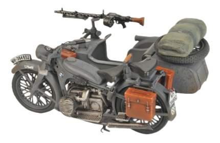 Модель немецкий мотоцикл вmw r12 c коляской Zvezda 3607