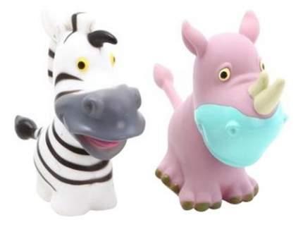 Игрушка для купания Zhorya Зебра и носорог