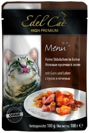 Влажный корм для кошек Edel Cat, домашняя птица, печень, 20шт, 100г