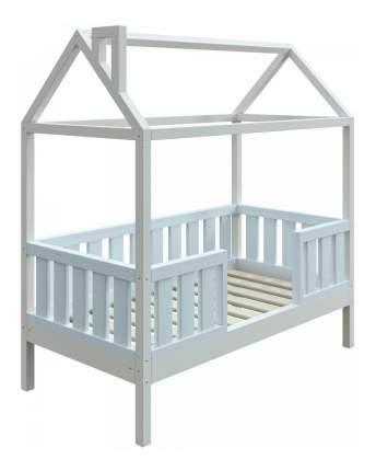Кровать-домик Трурум KidS Сказка широкий бортик голубо-белая