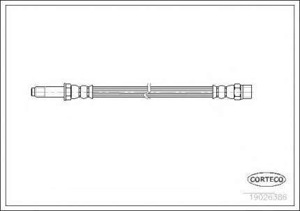 Шланг тормозной Corteco 19026386
