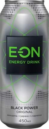 Энергетический напиток black power E-on energy drink безалкогольный жестяная банка 450 мл