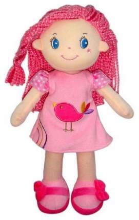 Кукла Creation Manufactory с розовыми волосами в розовом платье мягконабивная, 20 см