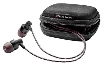 Наушники петельки Audi Sport In Ear Plugs, Black/Red, артикул 3291700600