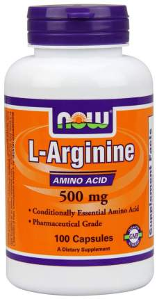 NOW Sports L-Arginine 500 100 капсул без вкуса