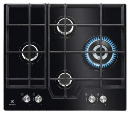Встраиваемая варочная панель газовая Electrolux GPE363NK Black