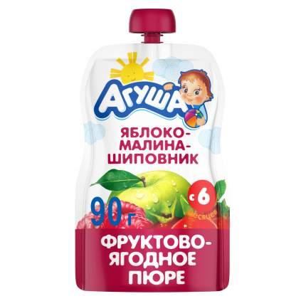 Пюре фруктовое Агуша Яблоко, малина, шиповник с 6 мес. 90 г