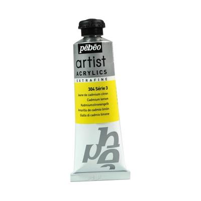Акриловая краска Pebeo Artist Acrylics extra fine №3 лимонно-желтый кадмий 37 мл