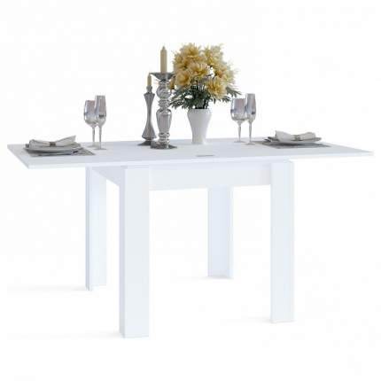 Кухонный стол СОКОЛ СО-2 80-160х90х75,6-77,2 см белый