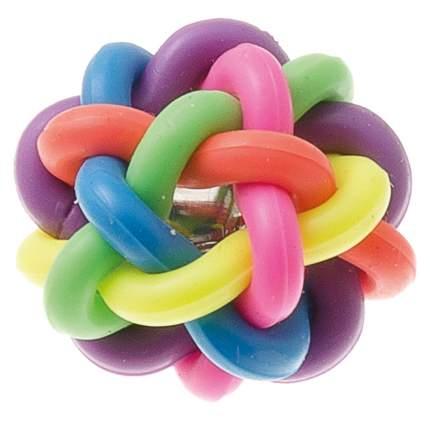 Апорт для собак V.I.Pet Мяч плетеный, разноцветный, 3,8 см