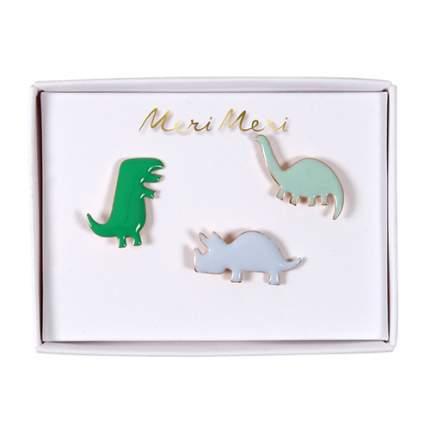 Значки глянцевые Meri Meri Динозавры 156556