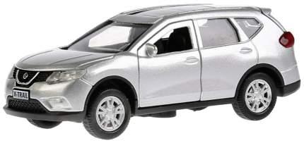 Машина металлическая инерционная Nissan X-Trail, цвет серебристый, 12 см, Технопарк