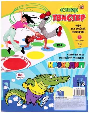 """Набор игр """"Супер-твистер + крокодил"""""""